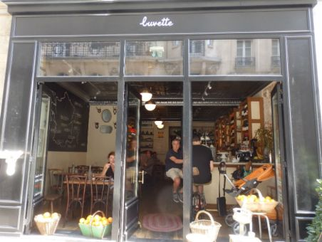 La Buvette, still in the afternoon, before the dinner crowds arrive.