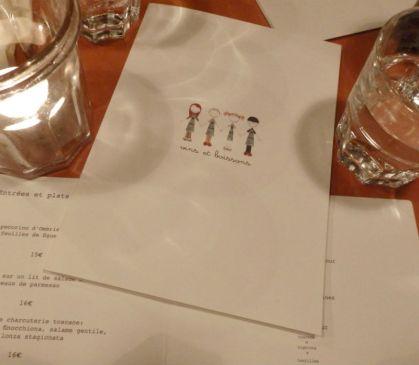 come a casa_paris_cover menu