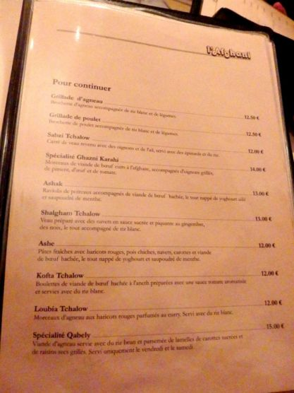 afghani_paris_main course menu