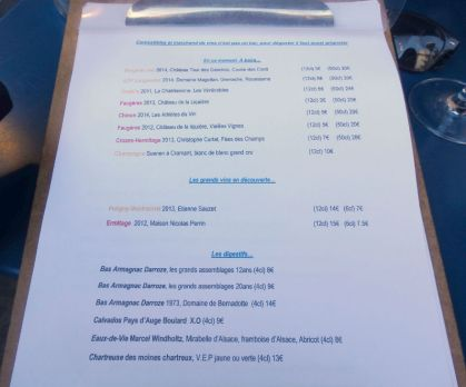 Comestibles_Paris_Wine Menu
