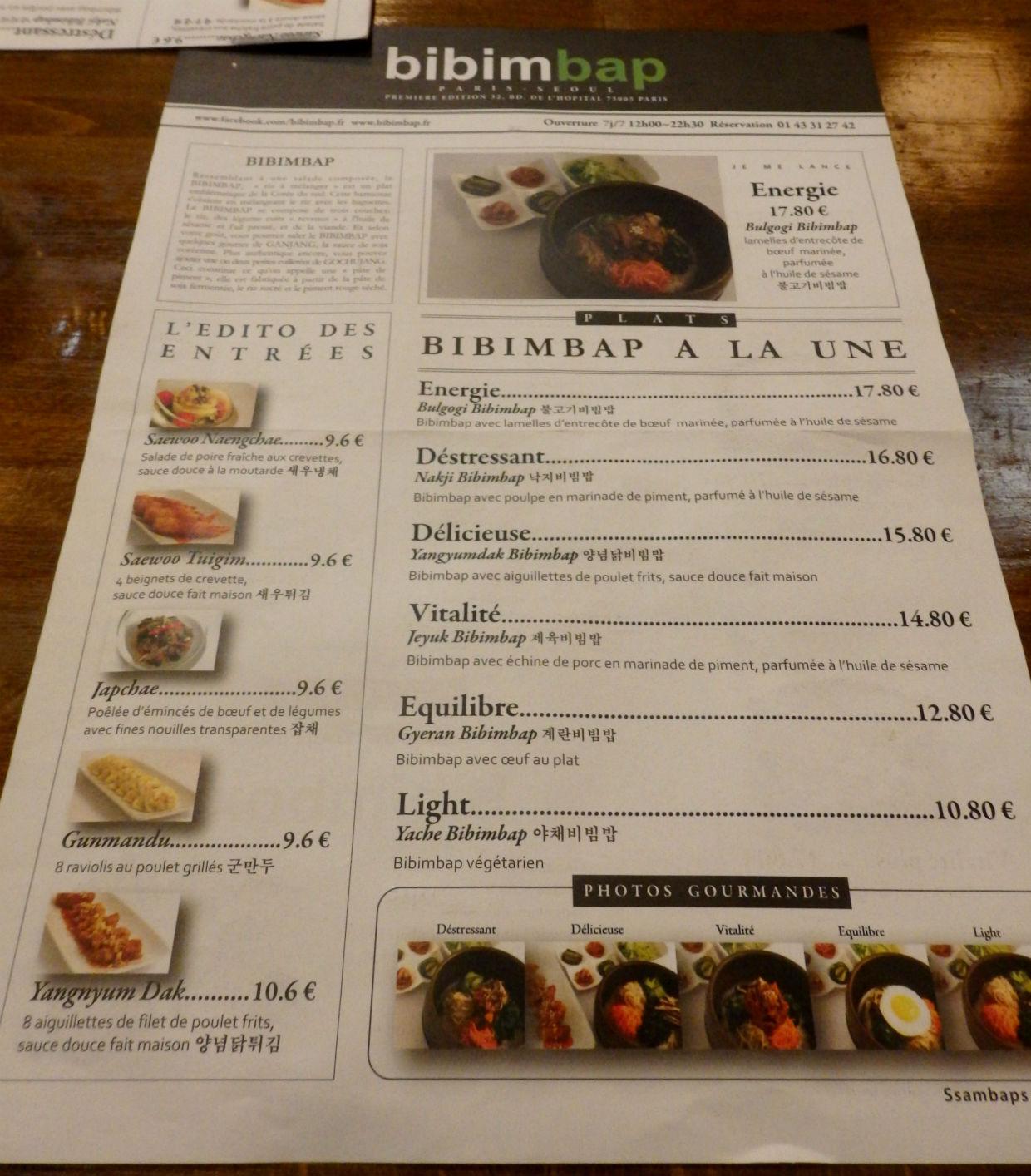 Bibimbap Cafe Paris