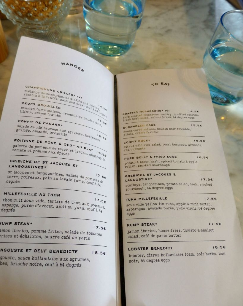 Paris brunch spots hardware soci t from your parisian for H kitchen paris menu