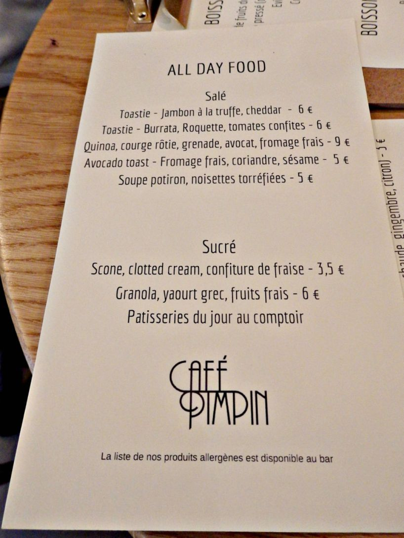 Paris coffee shops caf pimpin from your parisian for H kitchen paris menu
